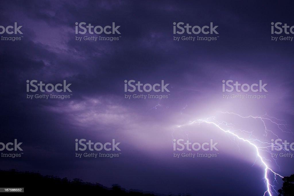 Lightning at night royalty-free stock photo