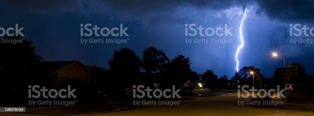 Lightning Banner stock photo