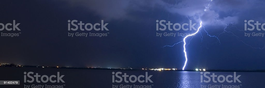 Lightning Blue royalty-free stock photo