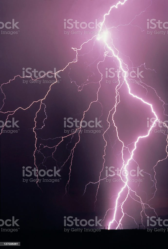 Lightning Bolt Strike stock photo