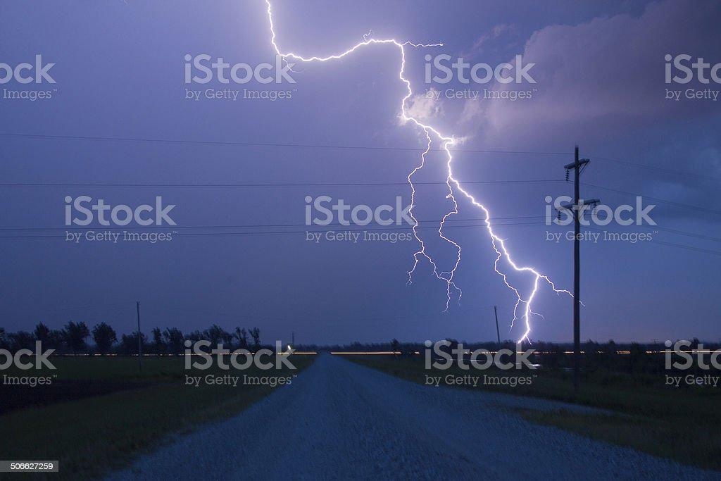 Lightning Bolt Very Close By stock photo