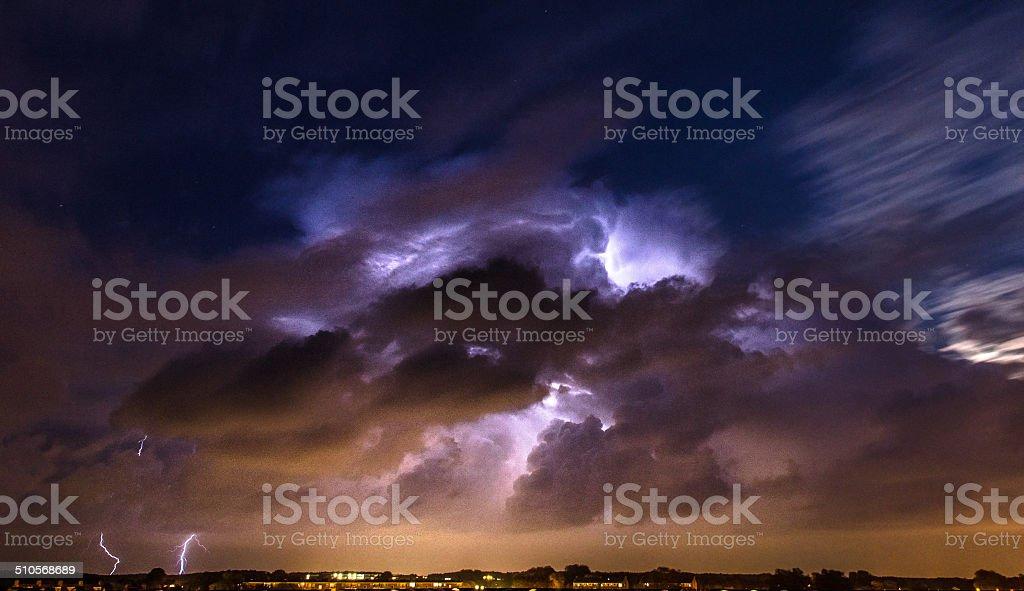 Lightning Cloud stock photo