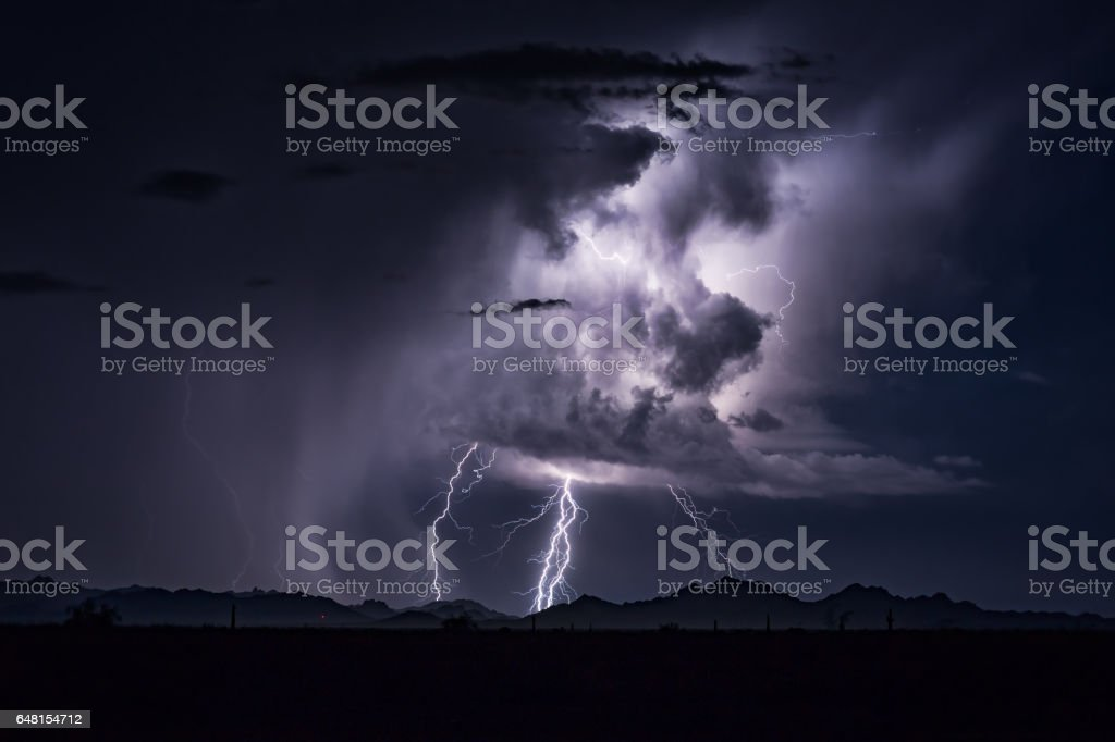 Lightning Cloudscape stock photo