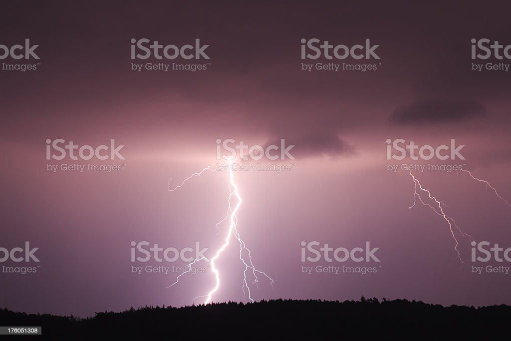 Lightning flash II royalty-free stock photo