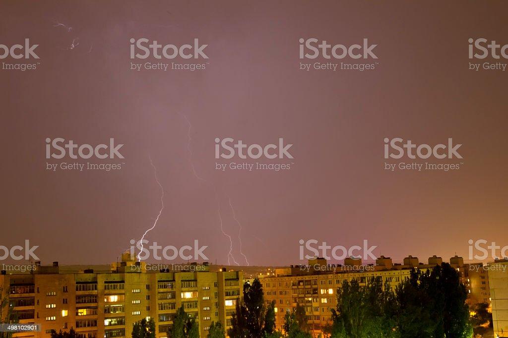 Lightning flashed stock photo