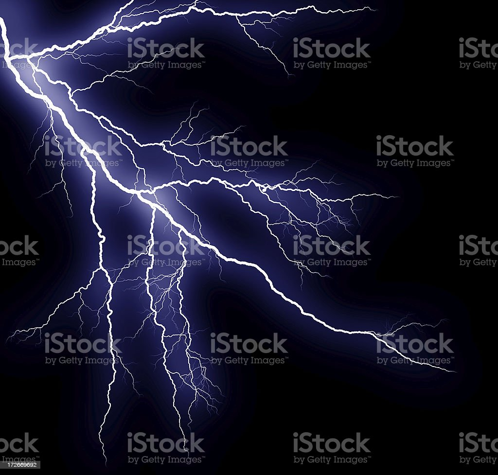 Lightning I stock photo