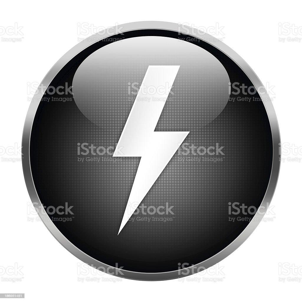 lightning icon stock photo