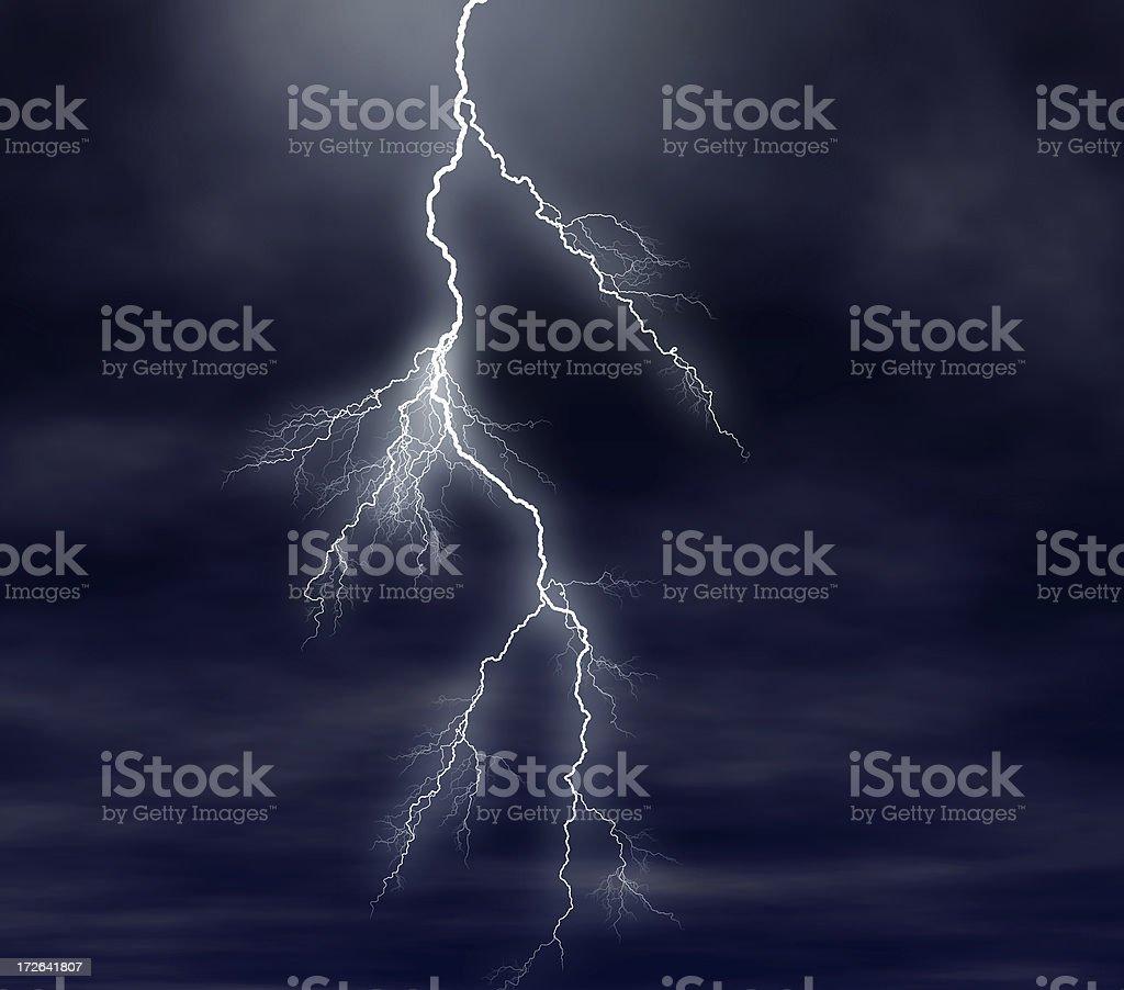 Lightning II royalty-free stock photo