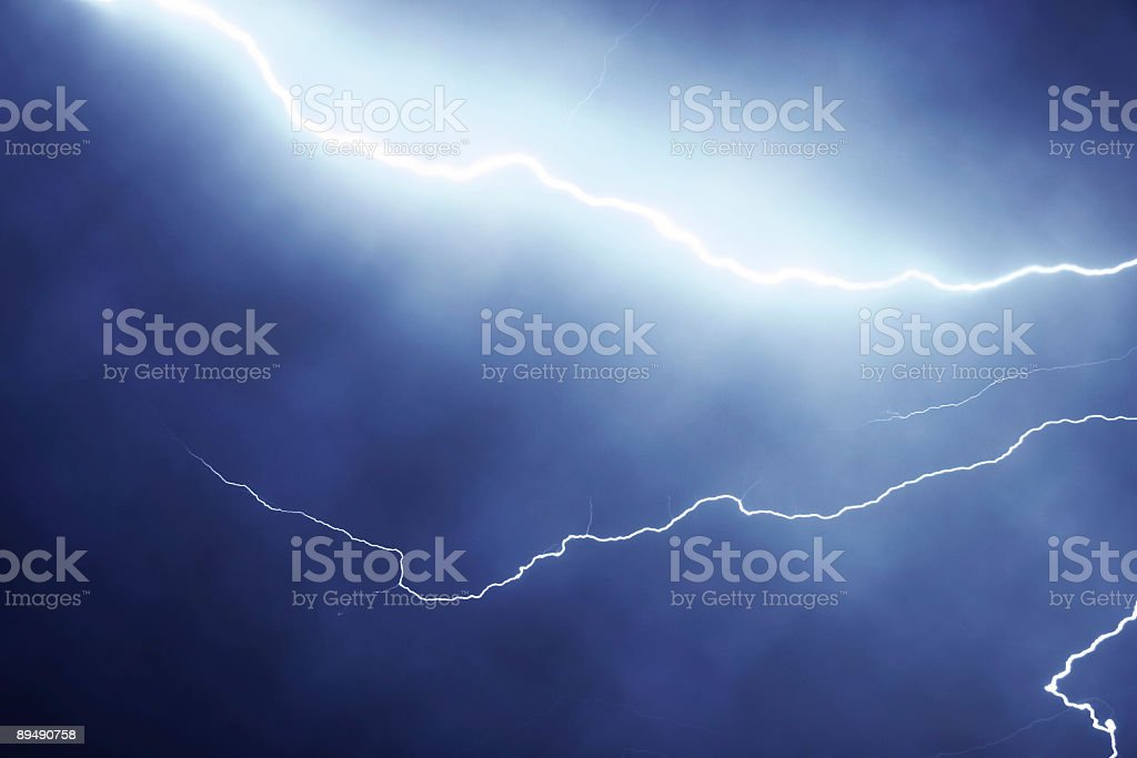 Lightning in the night royalty-free stock photo