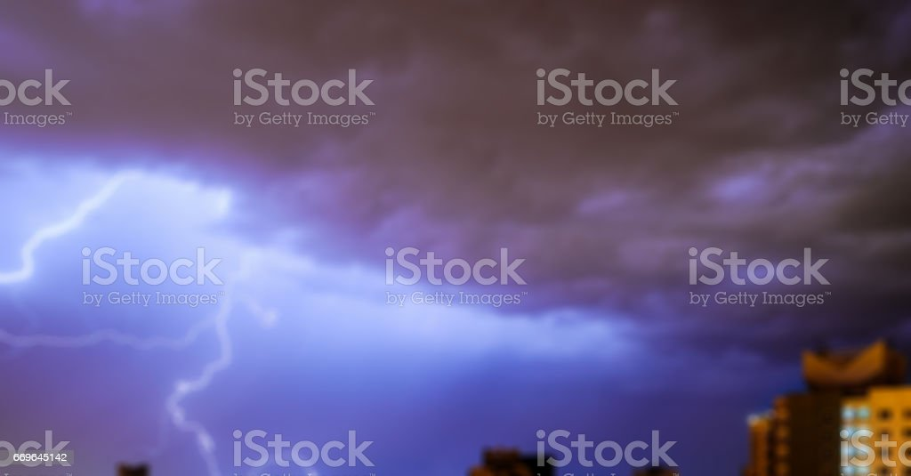 Lightning in the sky, creative abstract blur background, stock photo