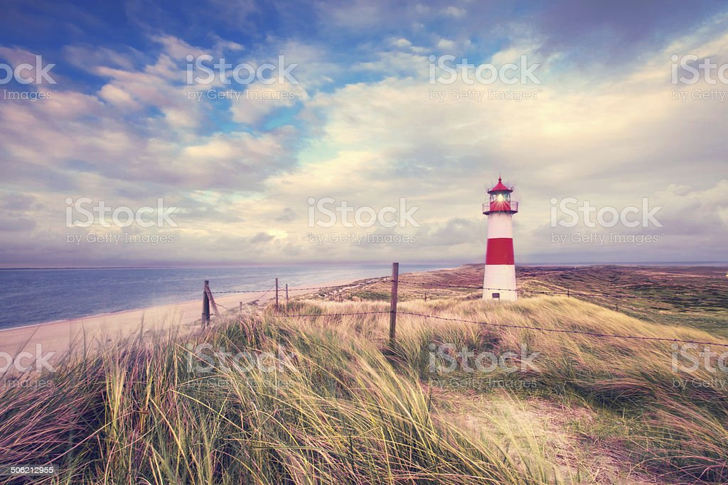 lightning lighthouse stock photo