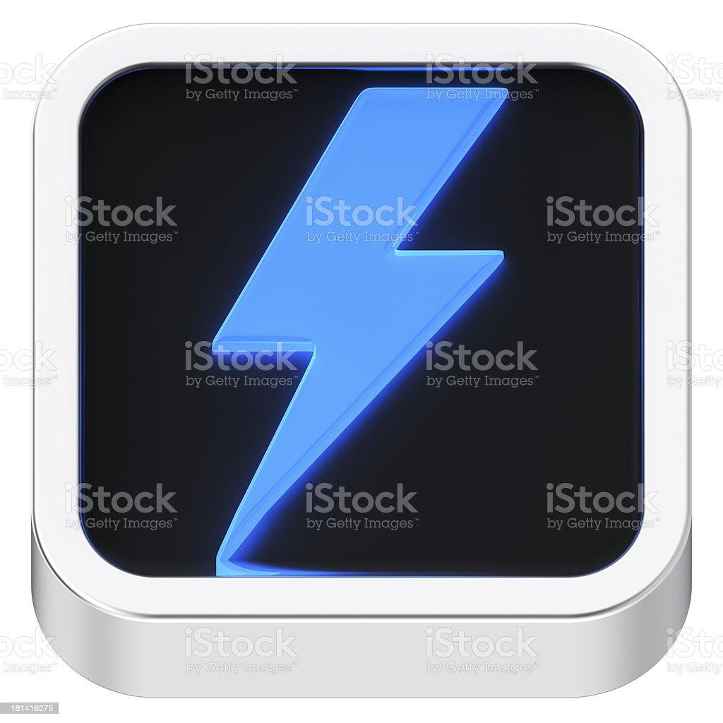Lightning luminous icon royalty-free stock photo