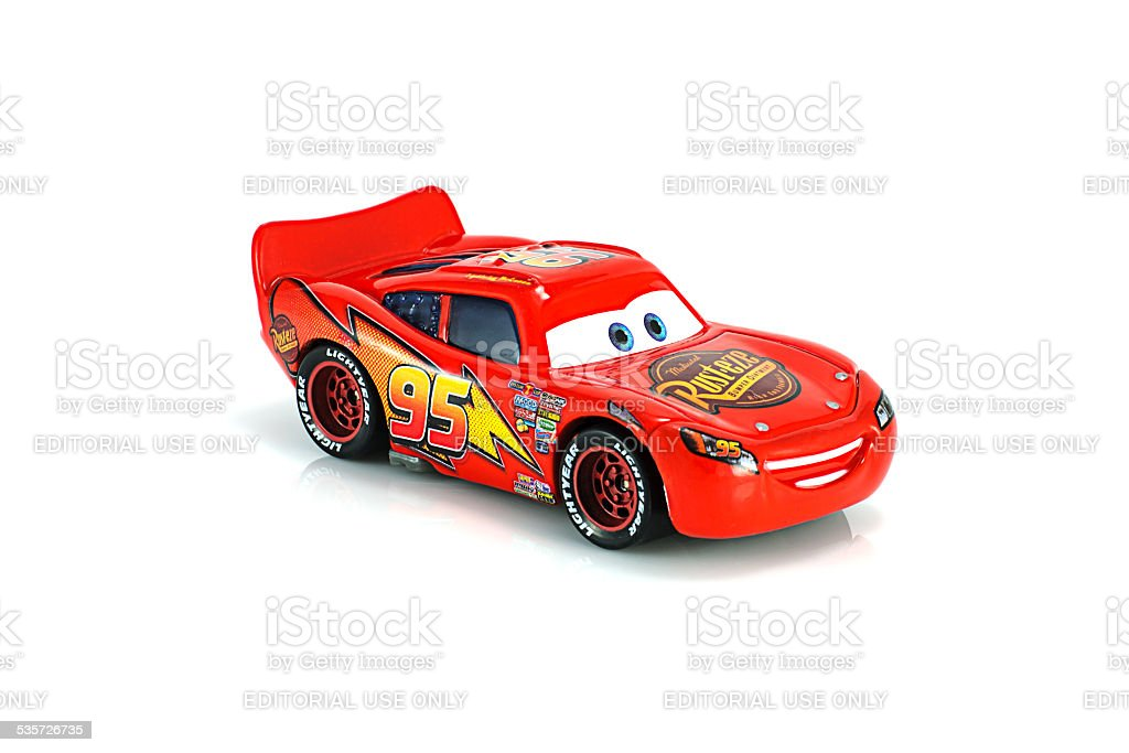 Lightning McQueen main protagonist of the Disney Pixar feature f stock photo