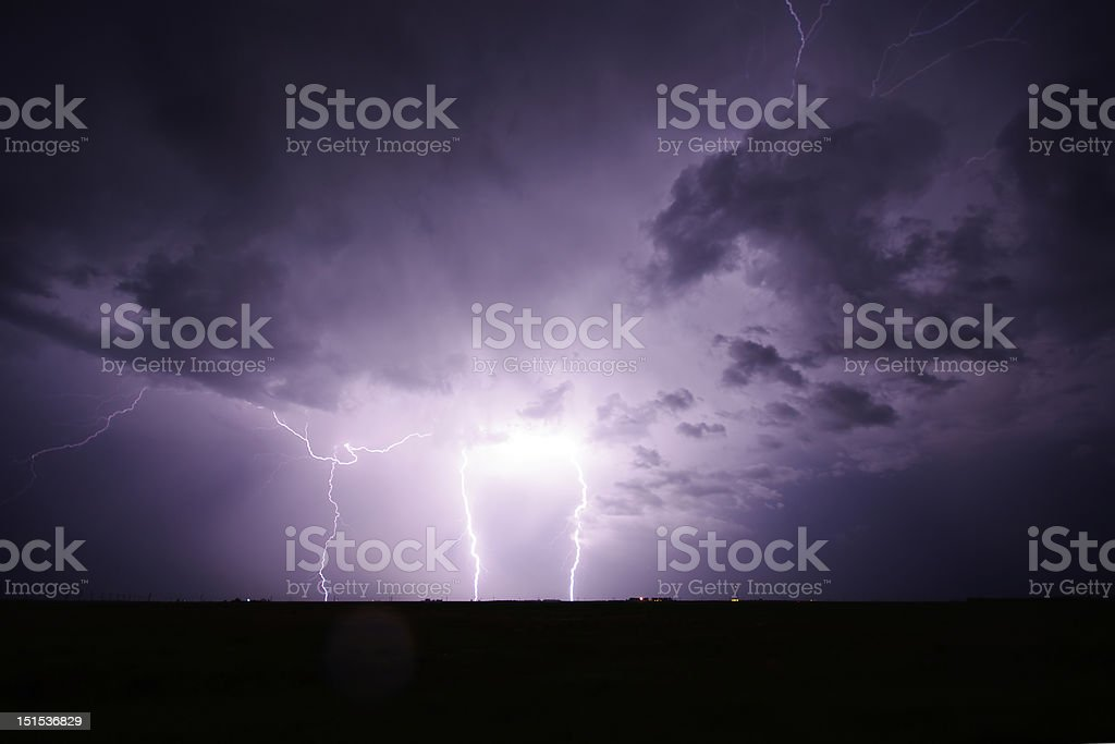 Lightning Near Regina royalty-free stock photo
