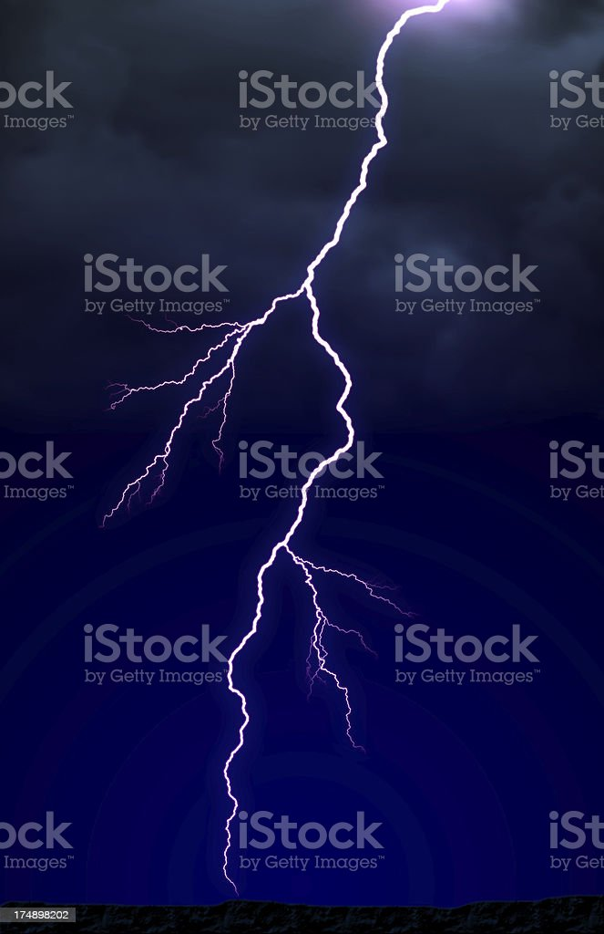Lightning! royalty-free stock photo