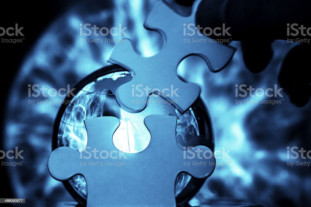 Lightning puzzle stock photo