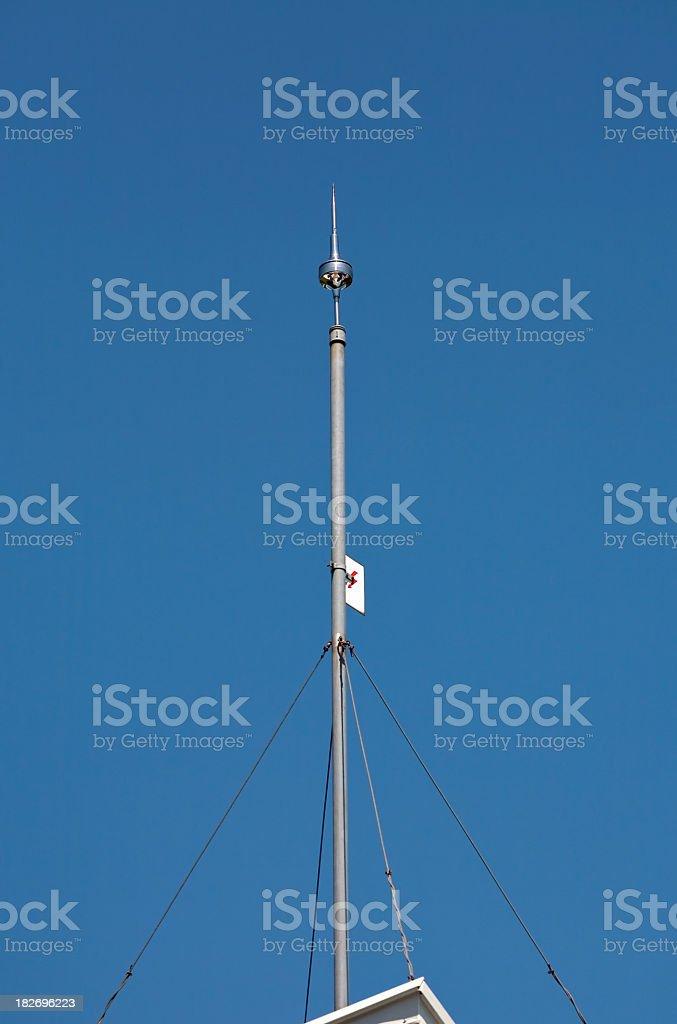 Lightning rod stock photo