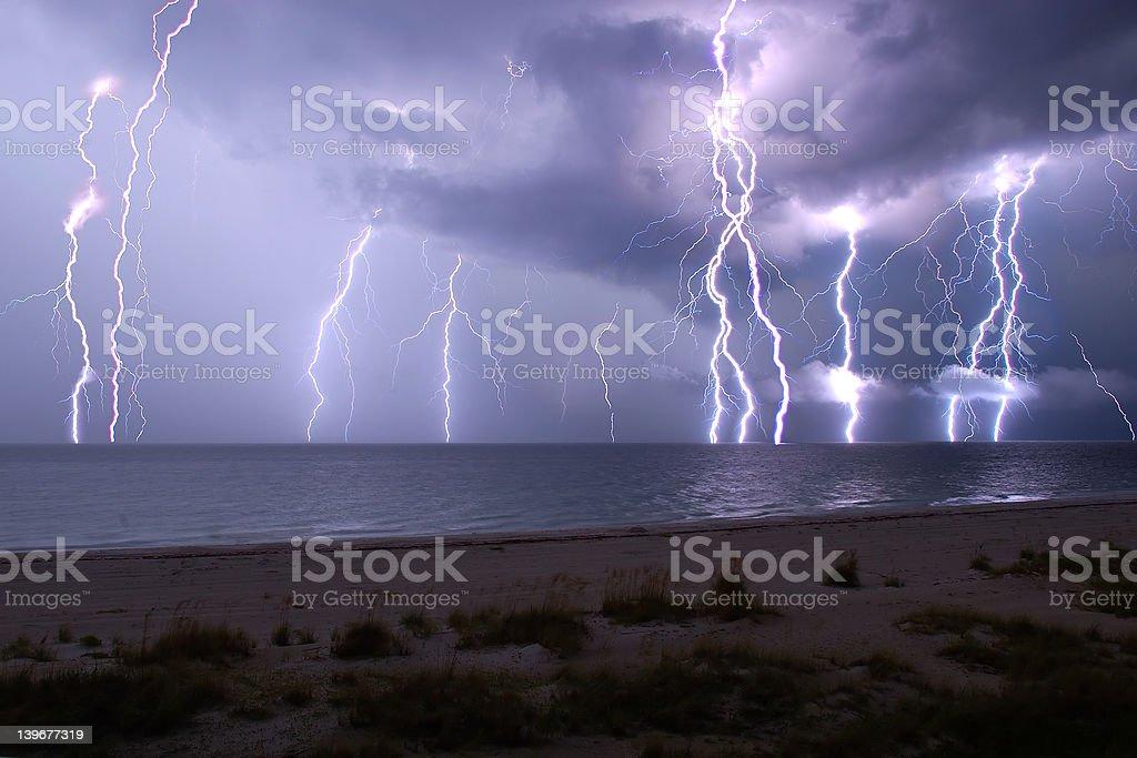 Lightning show royalty-free stock photo