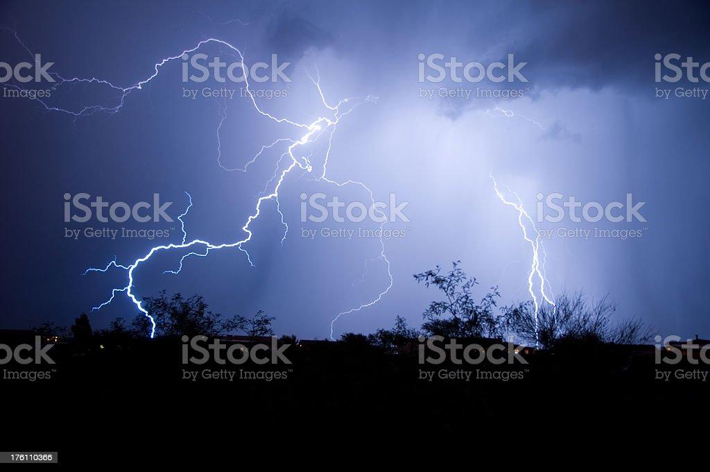 Lightning Storm. Tucson, Arizona royalty-free stock photo