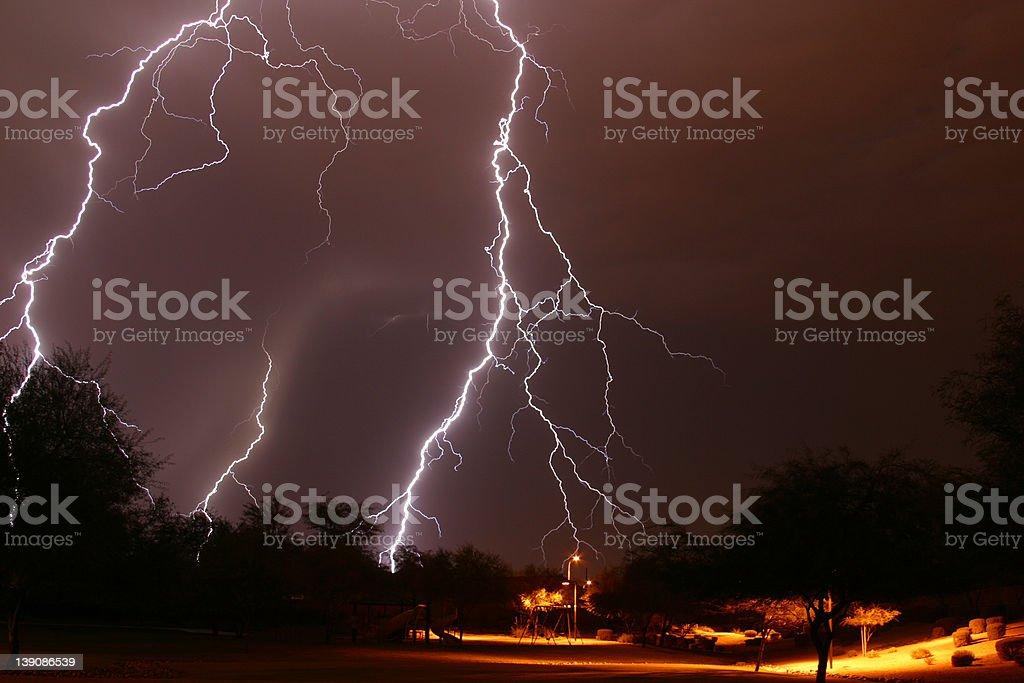 Lightning Strike 3 royalty-free stock photo