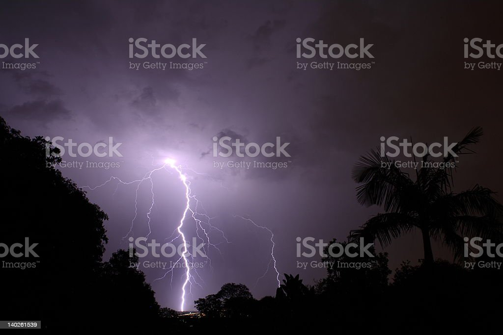 LIghtning Strike royalty-free stock photo