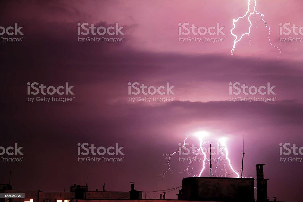 Lightning strike royalty-free stock photo