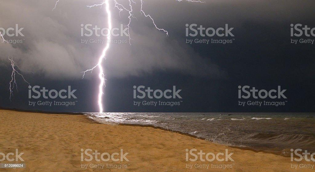 Lightning strike stock photo