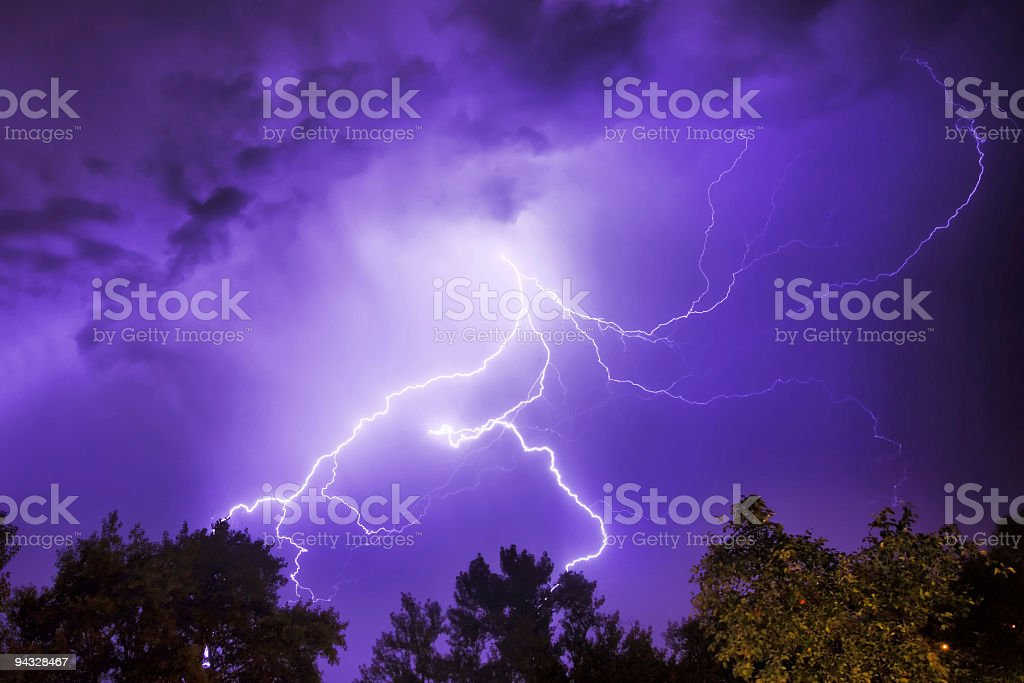 Lightning Strike. royalty-free stock photo