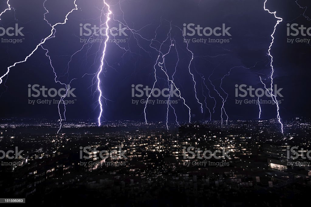 Lightning Strikes royalty-free stock photo