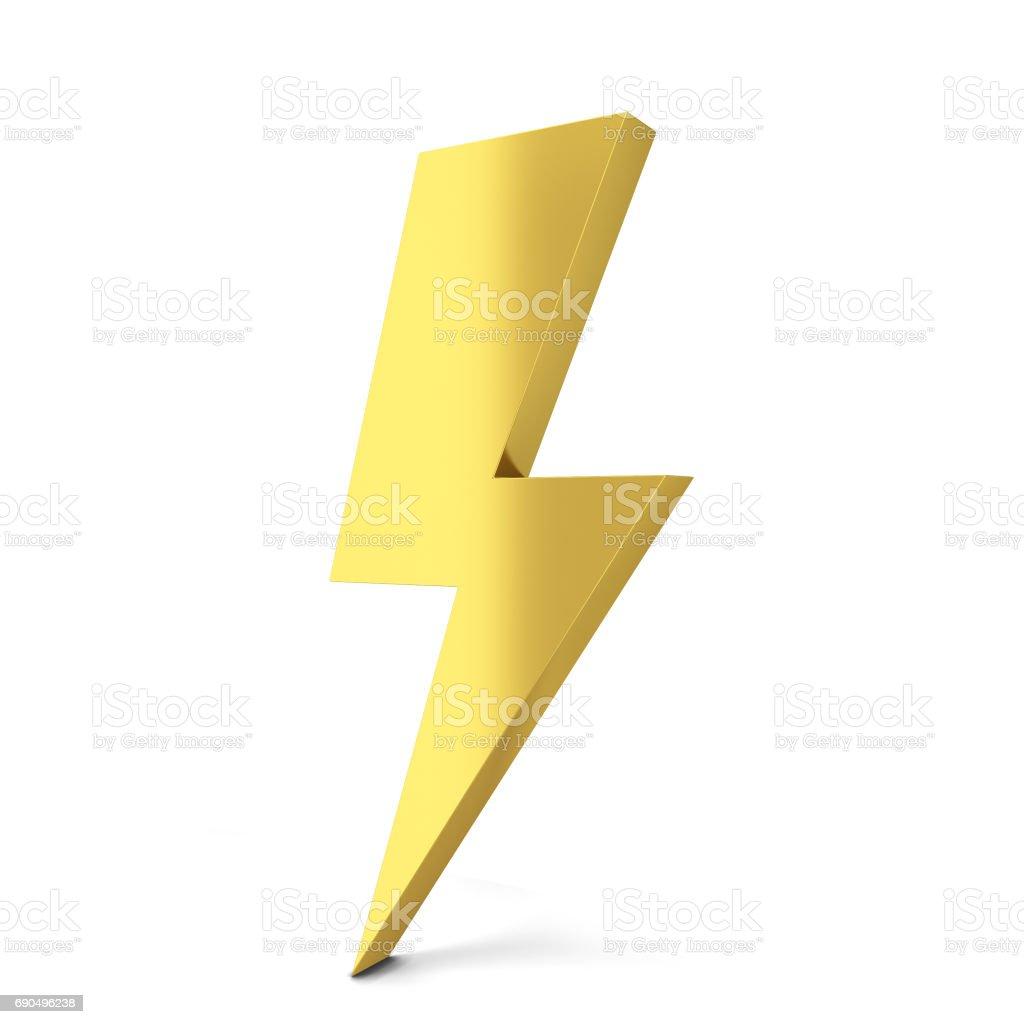 Lightning symbol stock photo