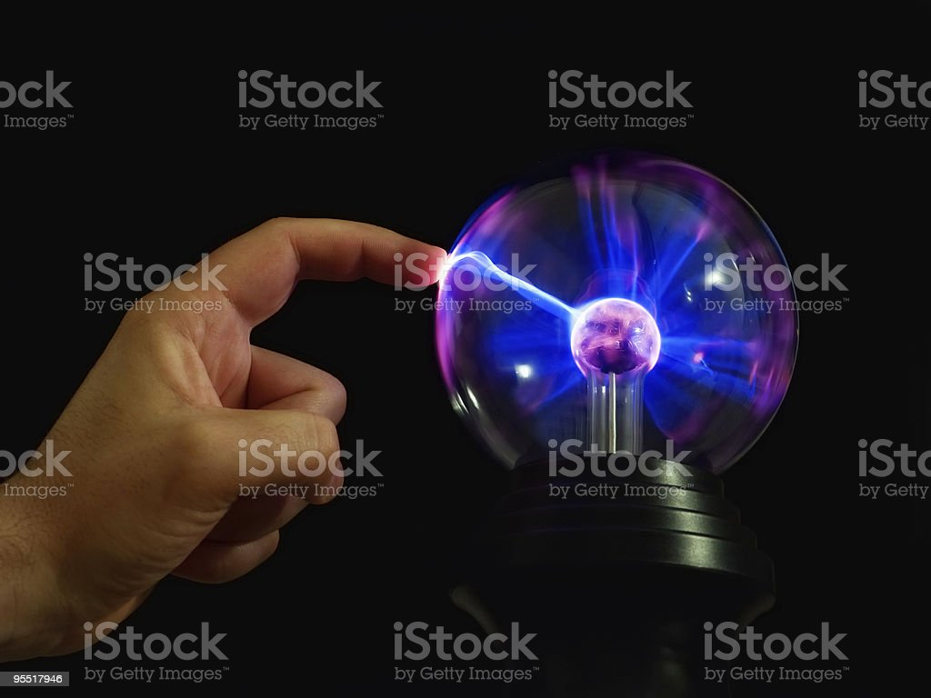 Lightning touch royalty-free stock photo