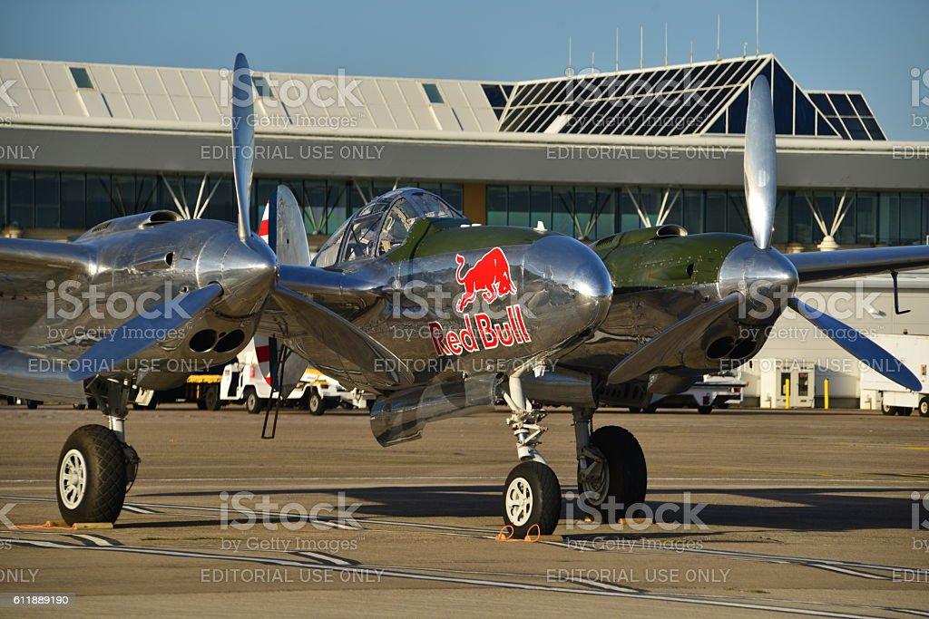 P38 Lightning, U.K. stock photo