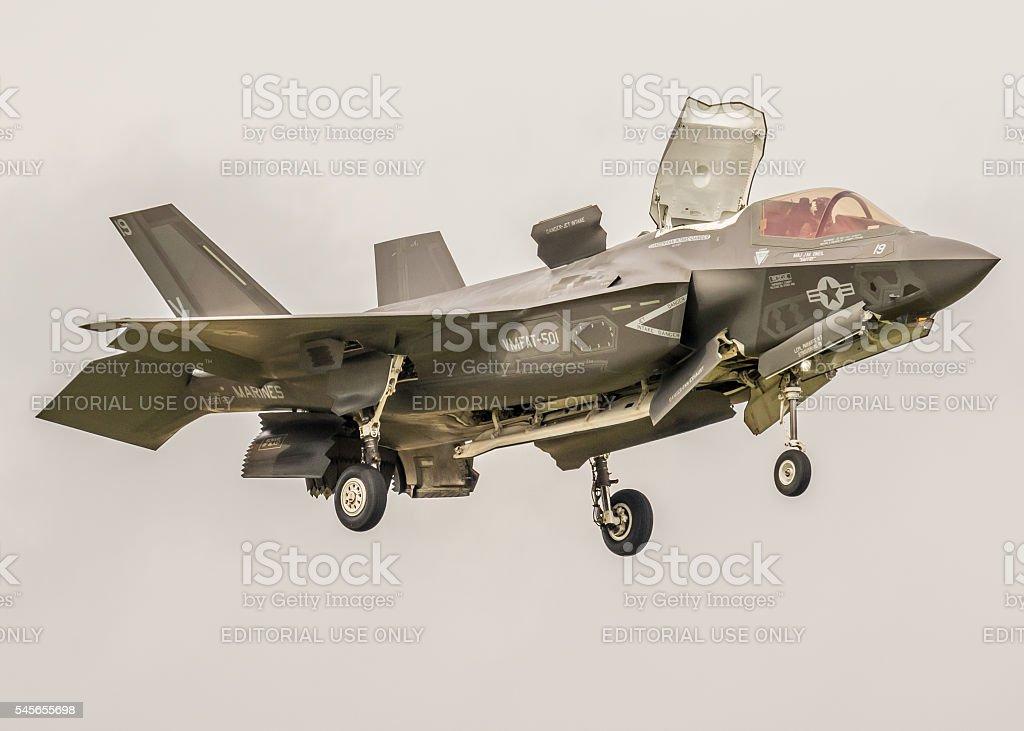F-35 Lightning - vertical landing stock photo