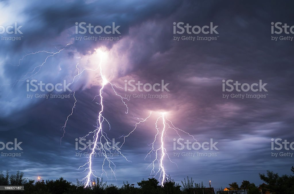 lightnings stock photo