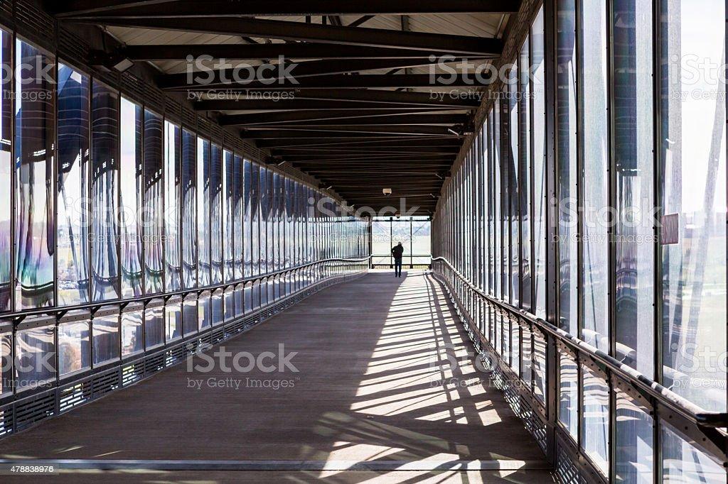 Lightrail station stock photo