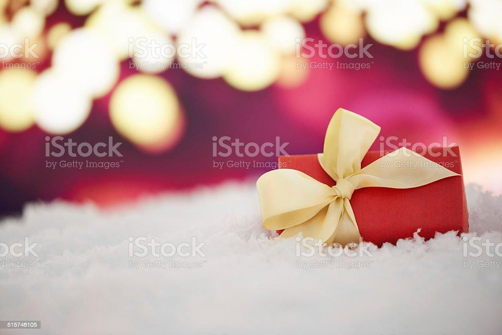 Lights and gifts and Christmas spirit stock photo