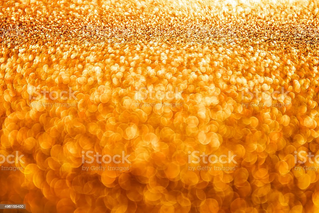 Lights Background, Abstract Blur Light, Golden Glow Lighting Bokeh stock photo