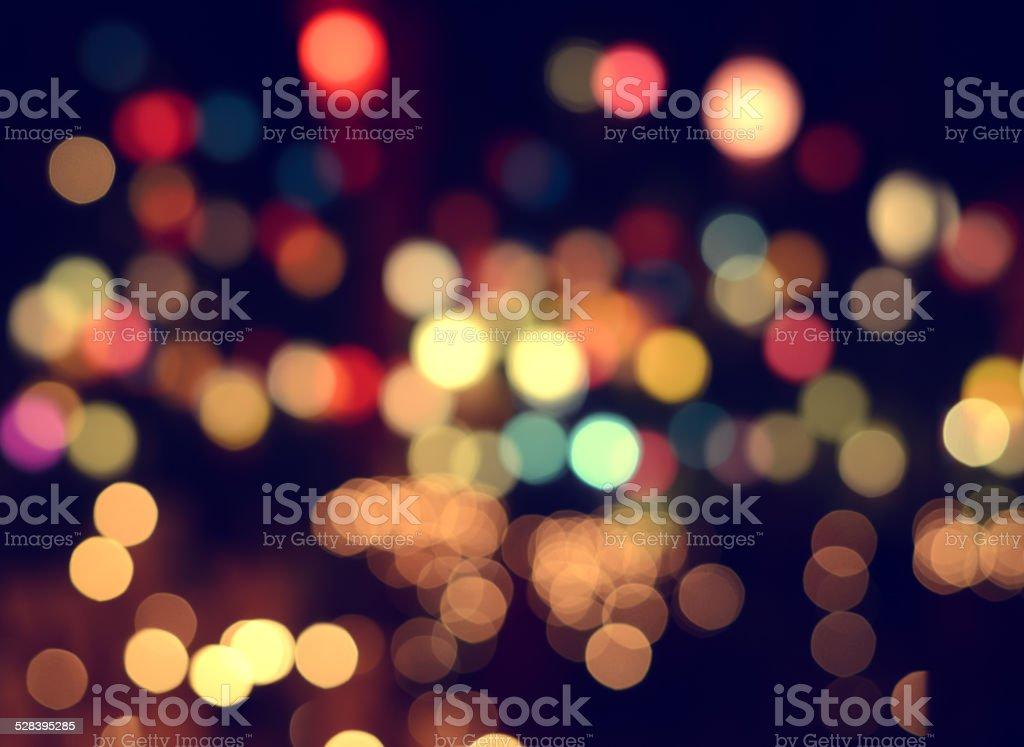 Lights blurred bokeh stock photo