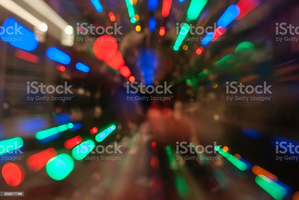 lights colorful defocused abstract pattern. stock photo