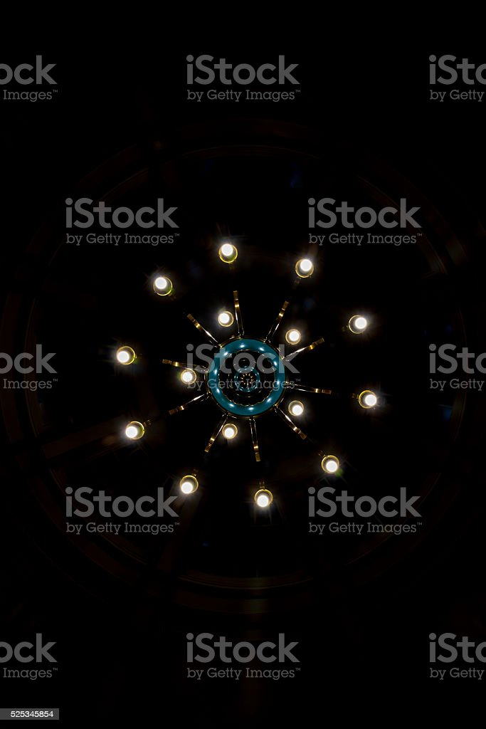 LED Lights in Chandelier stock photo