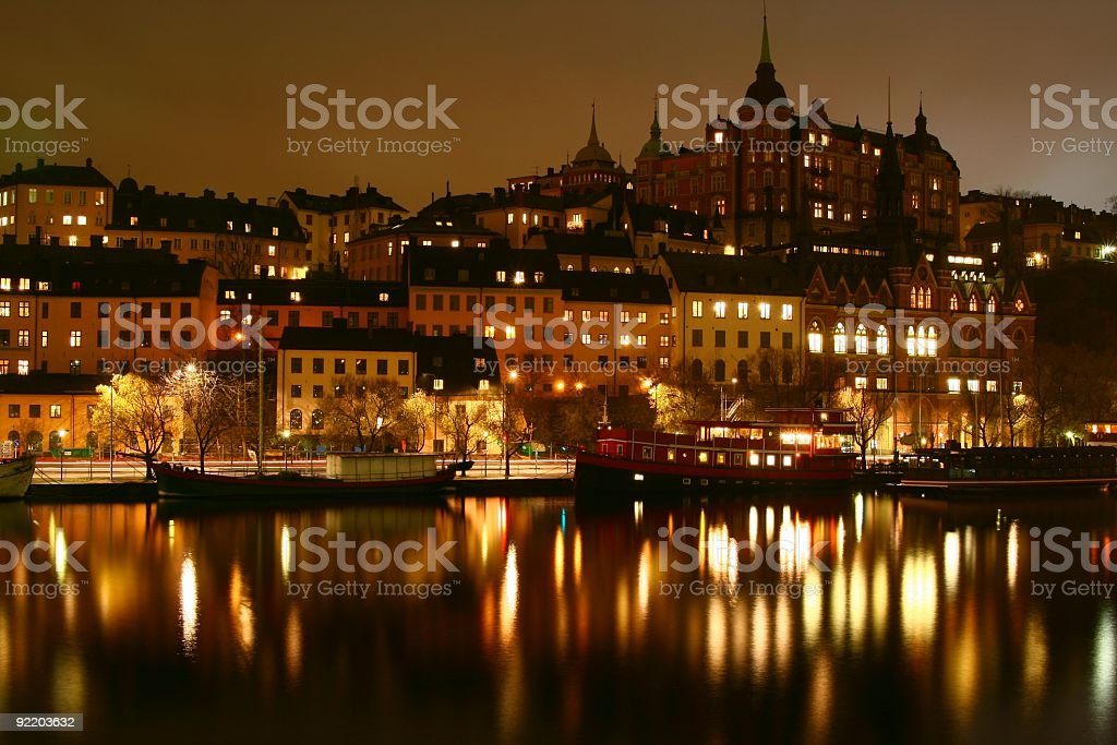 Lights in Stockholm royalty-free stock photo