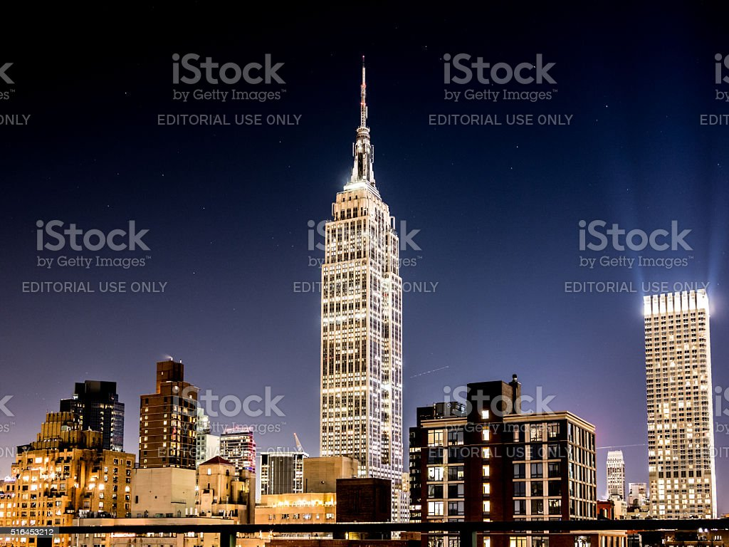 Lights in the Empire State stock photo