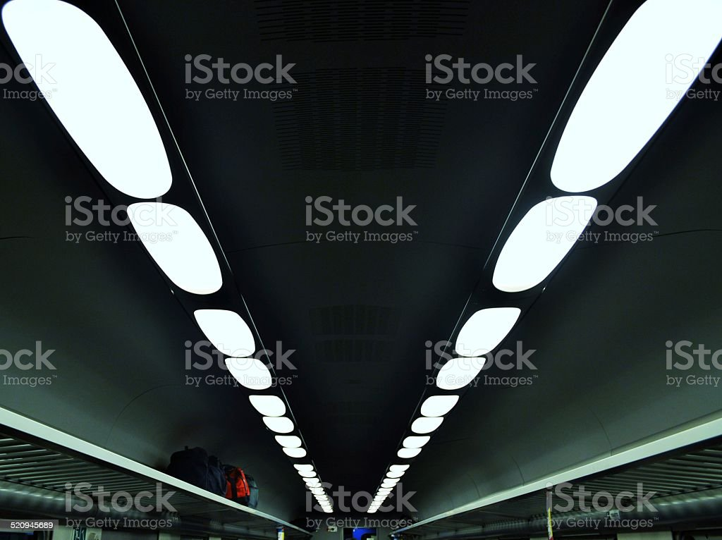 lights in the train stock photo