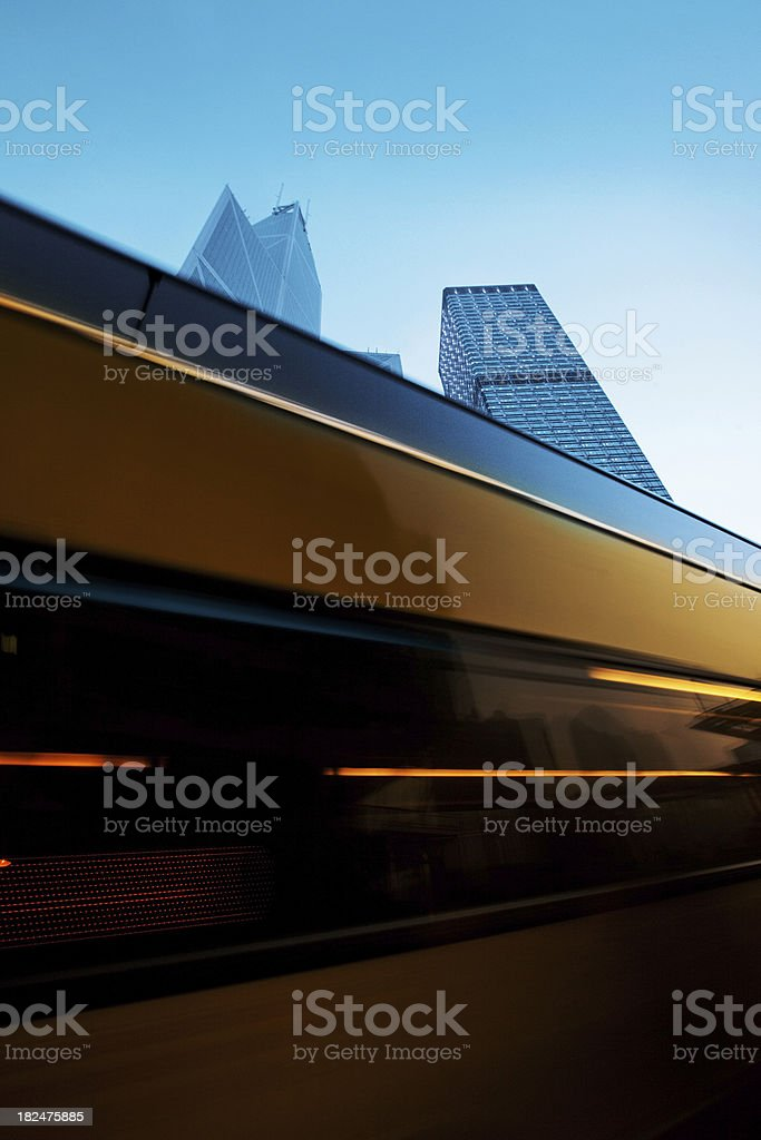 lights of a bus royalty-free stock photo