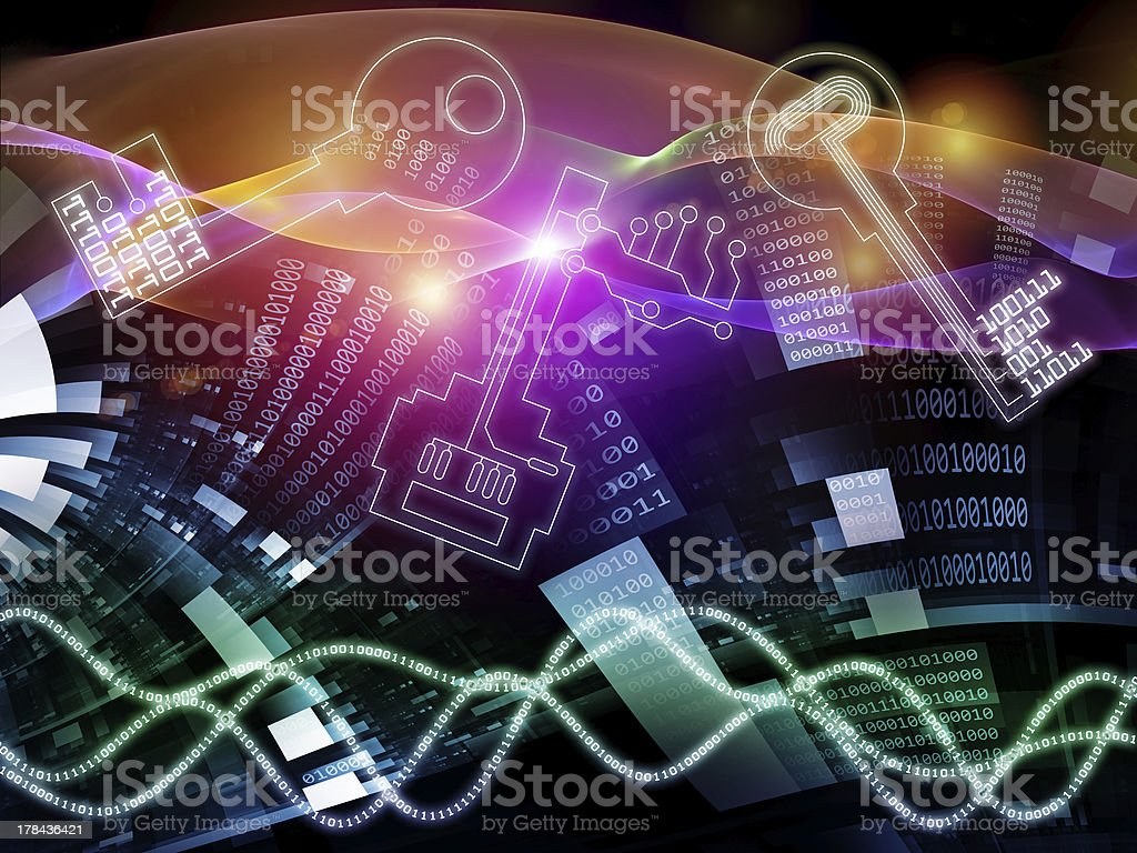 Lights of Encryption royalty-free stock photo