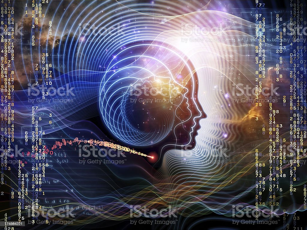 Lights of Human Mind royalty-free stock photo