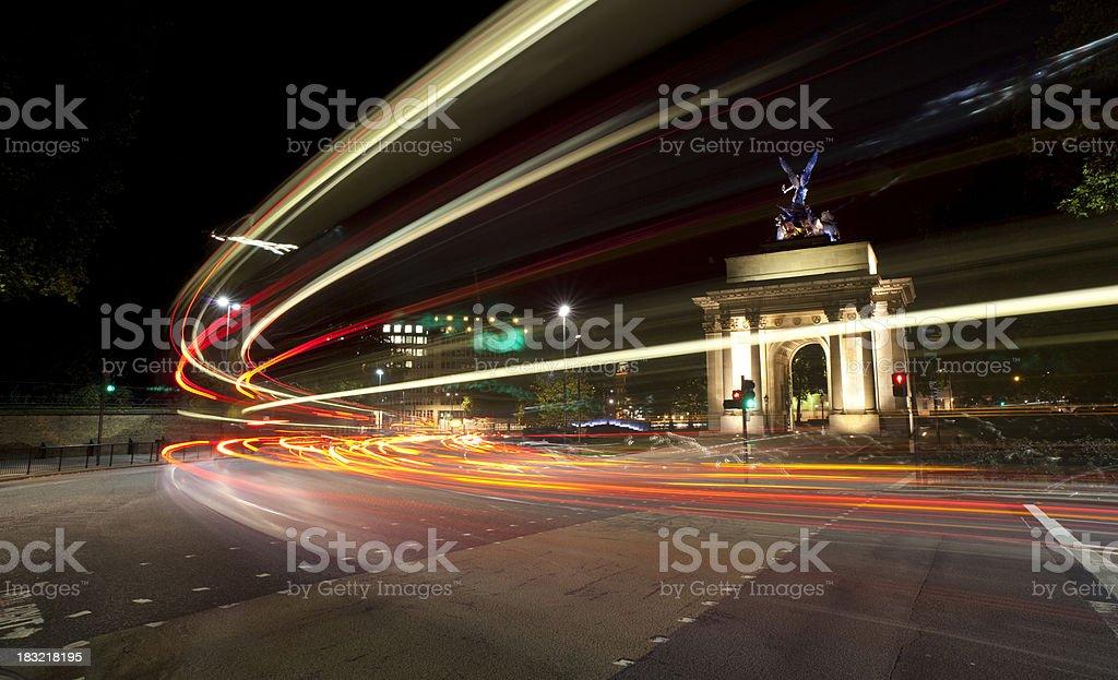 Lights of Hyde Park Corner stock photo