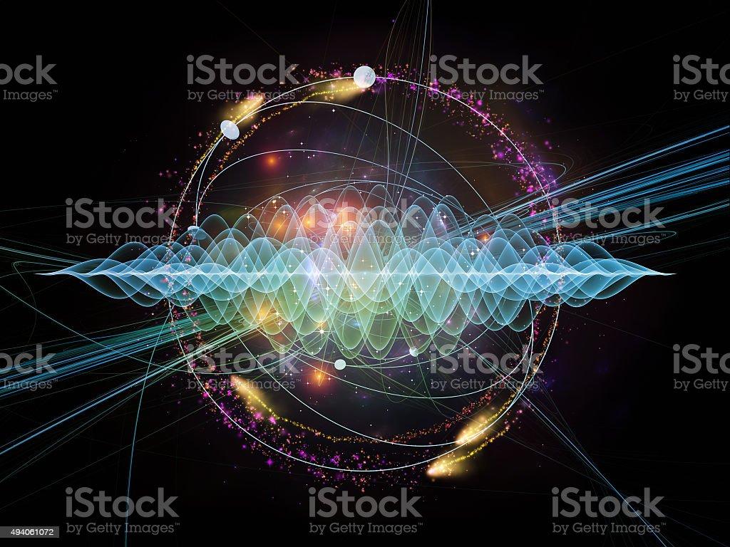 Lights of Quantum Wave stock photo
