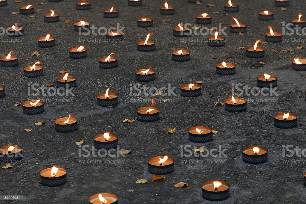 Lights of rememberance stock photo