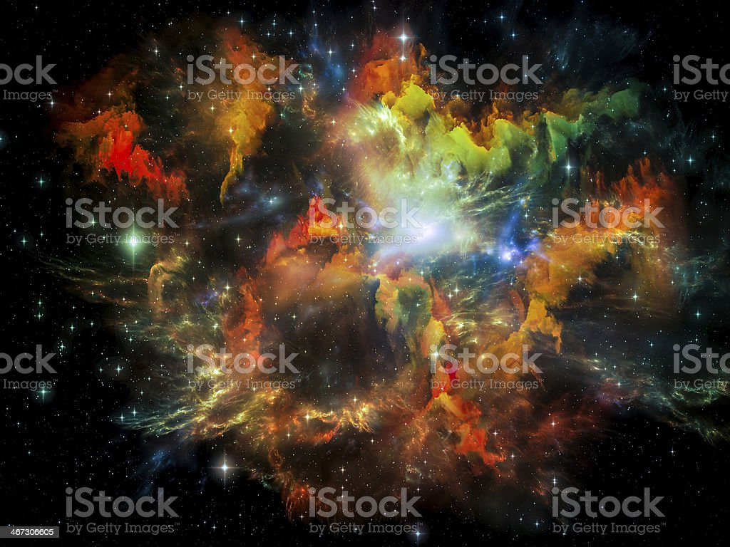 Lights of Space royalty-free stock photo